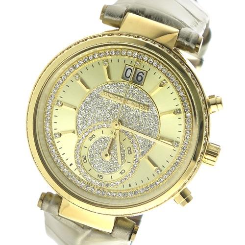 マイケルコース クロノ クオーツ レディース 腕時計 MK2444 ゴールド></a><p class=blog_products_name