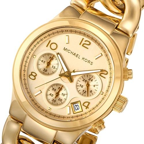 マイケルコース クロノ クオーツ レディース 腕時計 MK3131 イエローゴールド