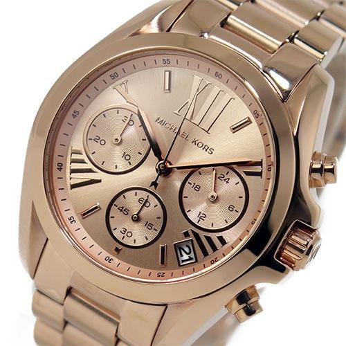 マイケルコース クオーツ クロノ レディース 腕時計 MK5799 ピンクゴールド