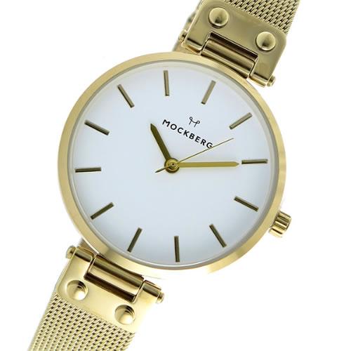 モックバーグ クオーツ レディース 腕時計 MO1601 ホワイト></a><p class=blog_products_name