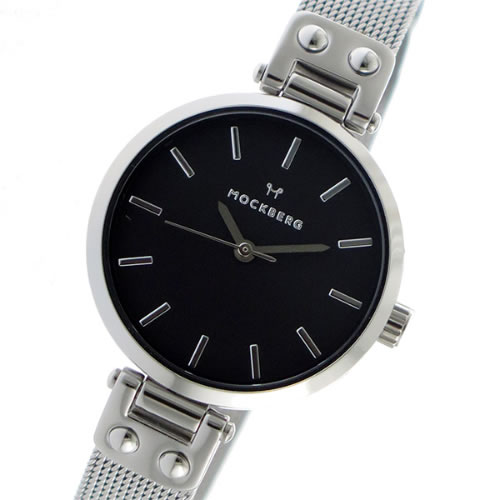 モックバーグ クオーツ レディース 腕時計 MO404 ブラック></a><p class=blog_products_name