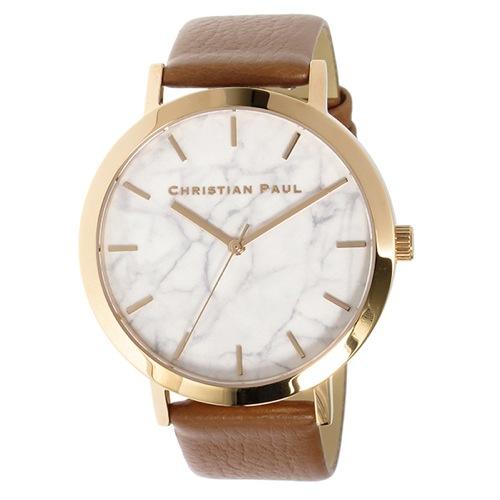 クリスチャンポール マーブルAVALON ユニセックス 腕時計 MR-06 ホワイト