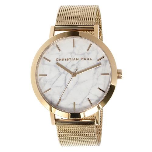 クリスチャンポール マーブルWHITEHAVEN ユニセックス 腕時計 MRM-02 ホワイト