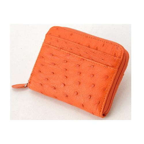 ロダニア RODANIA オーストリッチ コンパクト 財布 OKN1887HOR オレンジ