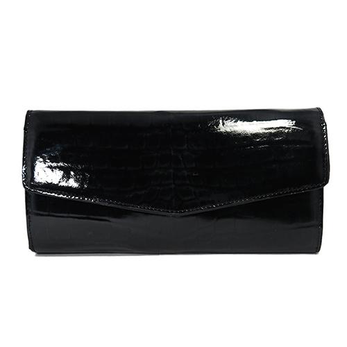 ロダニア RODANIA クロコダイル 長財布 レディース OKUC20156-BK ブラック