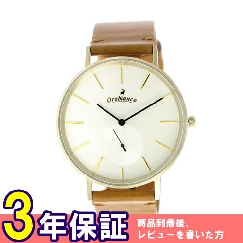 オロビアンコ クオーツ ユニセックス 腕時計 OR-0061-39LGDOFWH ホワイト/イエローゴールド></a><p class=blog_products_name