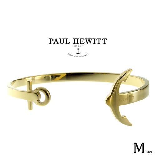 ポールヒューイット PAUL HEWITT アンカフス ANCUFFS レディース バングル PH-CU-G-M ゴールド