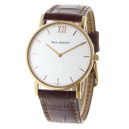 ポールヒューイット レディース 腕時計 PH-SA-R-SM-W-14M ホワイト/ブラウン