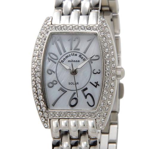 ラメットベリー RAMETTO BELLY ソーラー レディース 腕時計 RAB2860SSWH シェル