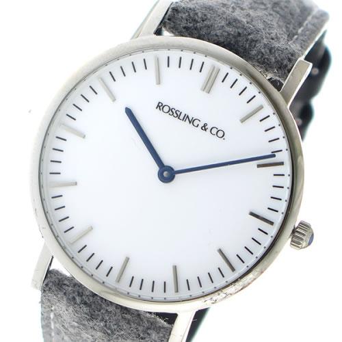 ロスリング CLASSIC 36MM Stirling クオーツ ユニセックス 腕時計 RO-005-006 ライトグレー/ホワイト></a><p class=blog_products_name