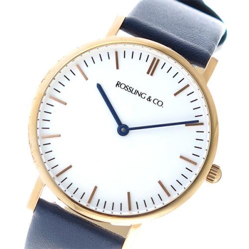 ロスリング CLASSIC 36MM Navy クオーツ ユニセックス 腕時計 RO-005-011 ネイビー/ホワイト></a><p class=blog_products_name