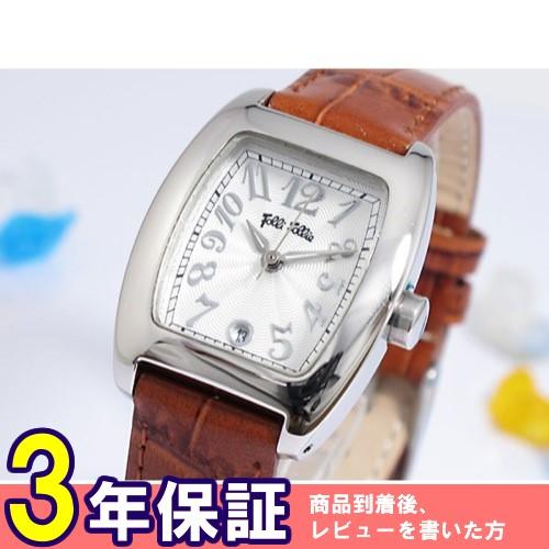 フォリフォリ クオーツ レディース 腕時計 S922-BR シルバー/ブラウン