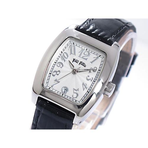 フォリフォリ クオーツ レディース 腕時計 S922-SVBK シルバー/ブラック
