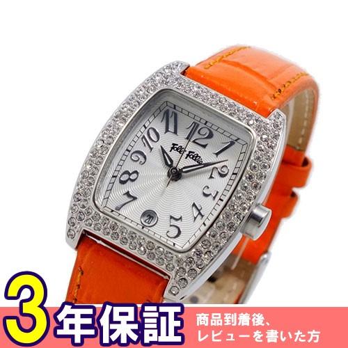 フォリフォリ ジルコニア付き 腕時計 S922ZI-SLV-ORG オレンジ></a><p class=blog_products_name