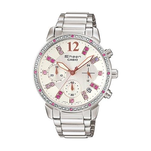 カシオ CASIO シーン SHEEN レディース クロノ 腕時計 SHN-5013D-7A ホワイト