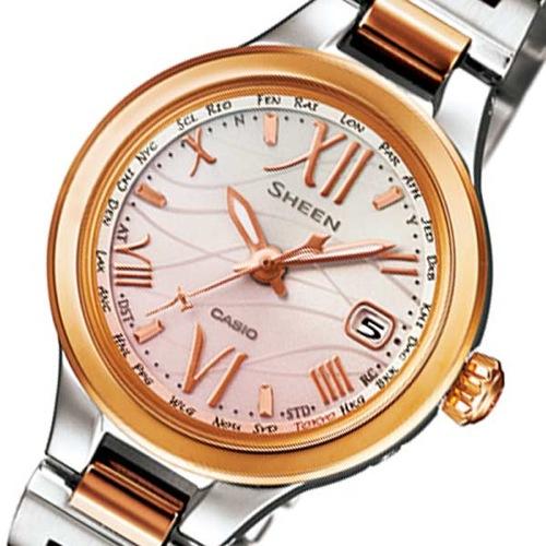 カシオ シーン ソーラー レディース 腕時計 SHW-1700SG-4AJF ピンク 国内正規