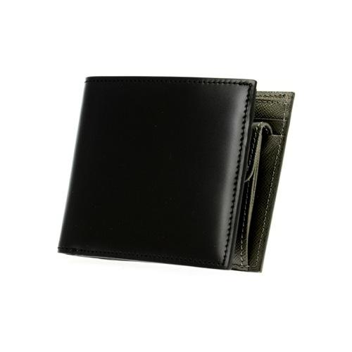 ゾンネ SONNE 二つ折り短財布 レディース SOC011RE-BLK ブラック