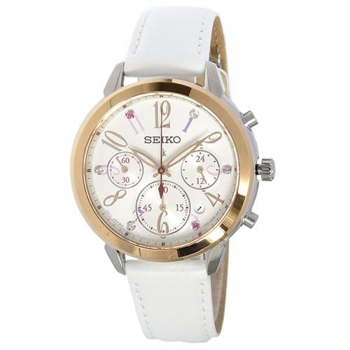 セイコー ルキア 限定 2000本 クオーツ クロノ レディース 腕時計 SRW814P1 ホワイト