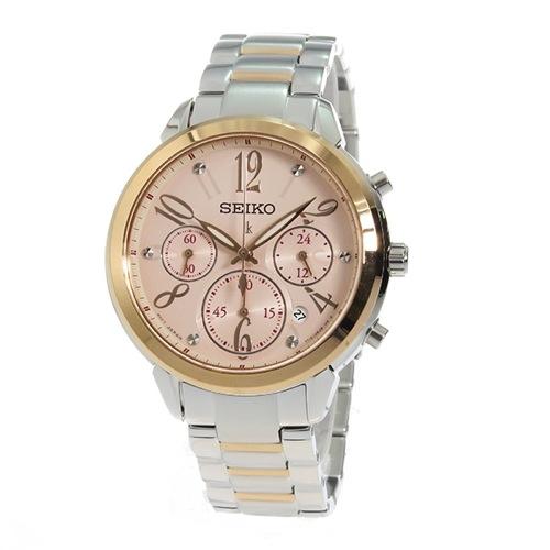 セイコー クロノ ルキア クオーツ レディース 腕時計 SRW818P1 ピンクゴールド