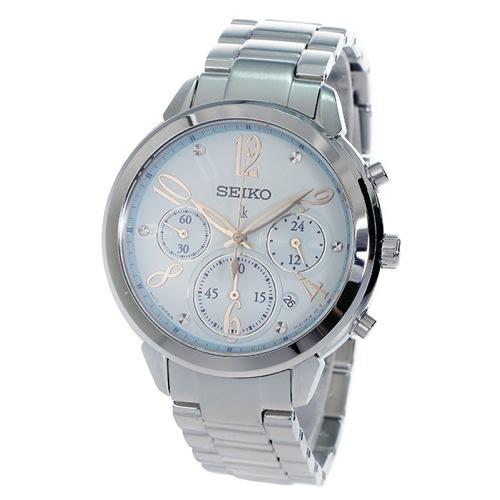 セイコー SEIKO クロノ ルキア クオーツ レディース 腕時計 SRW827P1 ブルー