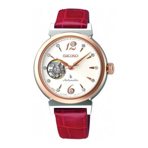 セイコー SEIKO ルキア 自動巻き レディース 腕時計 SSVM012 レッド 国内正規
