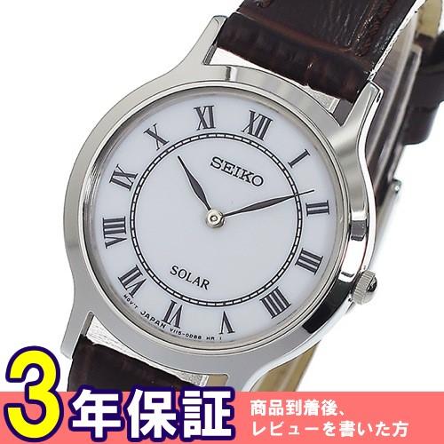 セイコー SEIKO ソーラークオーツ レディース 腕時計 SUP303P1 ホワイト