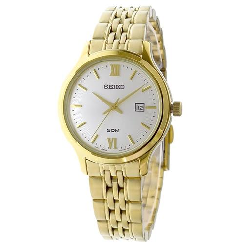 セイコー クラシック クオーツ レディース 腕時計 SUR704P1 ホワイトシルバー