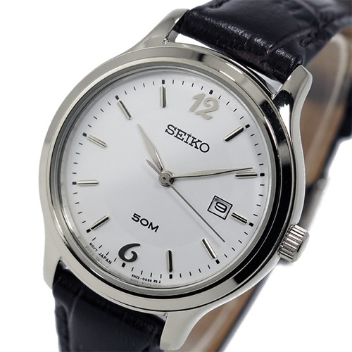 セイコー SEIKO クオーツ レディース 腕時計 SUR791P1 ホワイト
