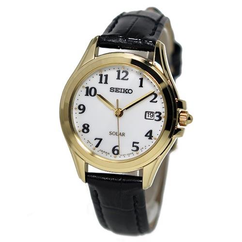 セイコー SEIKO ソーラー クオーツ レディース 腕時計 SUT238P1 ホワイト