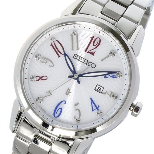 セイコー ルキア ソーラー クオーツ レディース 腕時計 SUT295J1 ホワイト