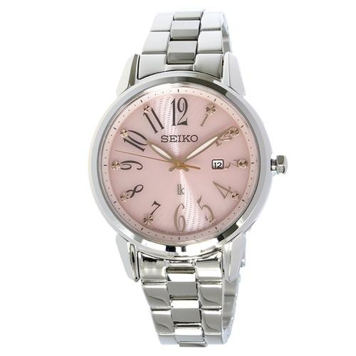セイコー ルキア ソーラー クオーツ レディース 腕時計 SUT297J1 ピンク
