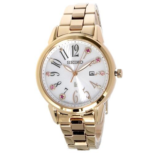 セイコー ルキア ソーラー クオーツ レディース 腕時計 SUT302J1 ホワイト