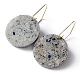 22designstudio Circle Earring (Original) Original grey concrete 4719692542779 ピアス