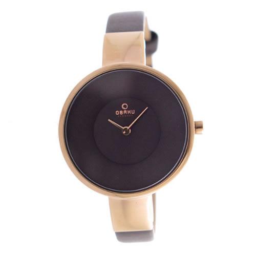 オバク クオーツ ユニセックス 腕時計 V149LXVNRN ブラウン></a><p class=blog_products_name