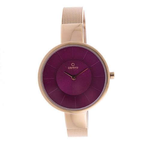 オバク クオーツ レディース 腕時計 V149LXVQMV パープル></a><p class=blog_products_name
