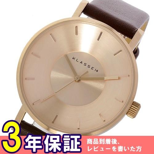 クラス14 KLASSE14 ヴォラーレ Volare 35mm レディース 腕時計 VO14RG002W ローズゴールド/ブラウン