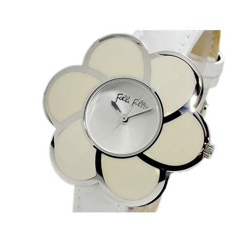 フォリフォリ FOLLI FOLLIE フラワーモチーフ クオーツ レディース 腕時計 WF5T079SPW ホワイト×シルバー